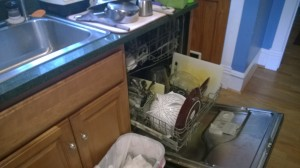 8.  Small kitchen, so I do dishes along the way while stuff cooks.