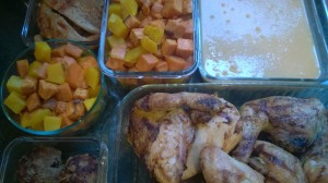 10.  All cooked up and into containers to cool in the fridge (not counter).