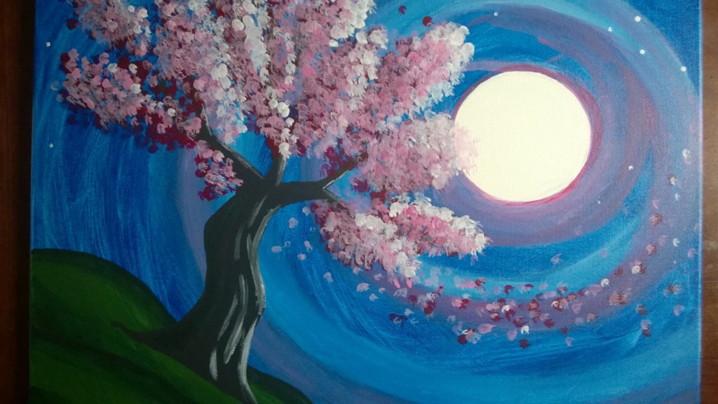 Paint Nite:  Lust in the Wind Re-creation