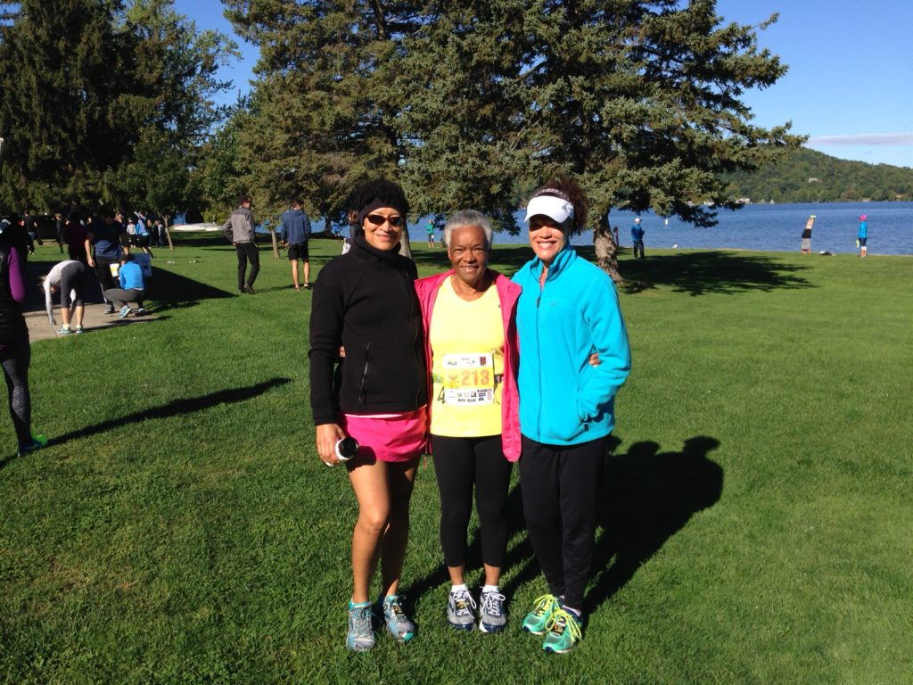 Pre-race with The Girl Trifecta: Me, Mom and Sis (also age group winners)